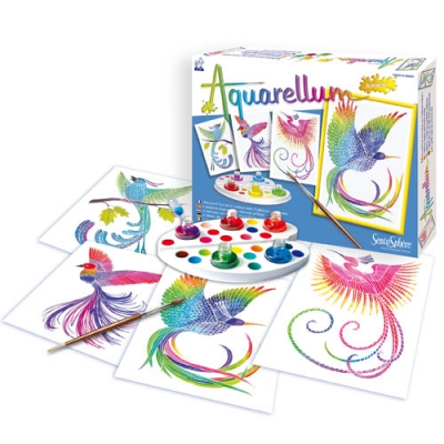 Boite de cartes à peindre Aquarellum
