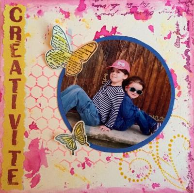 Page Créativité vue d'ensemble - ScrapD